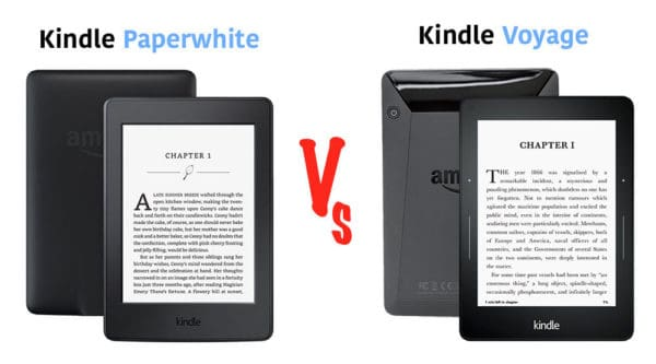 kindle paperwhite vs kindle voyage