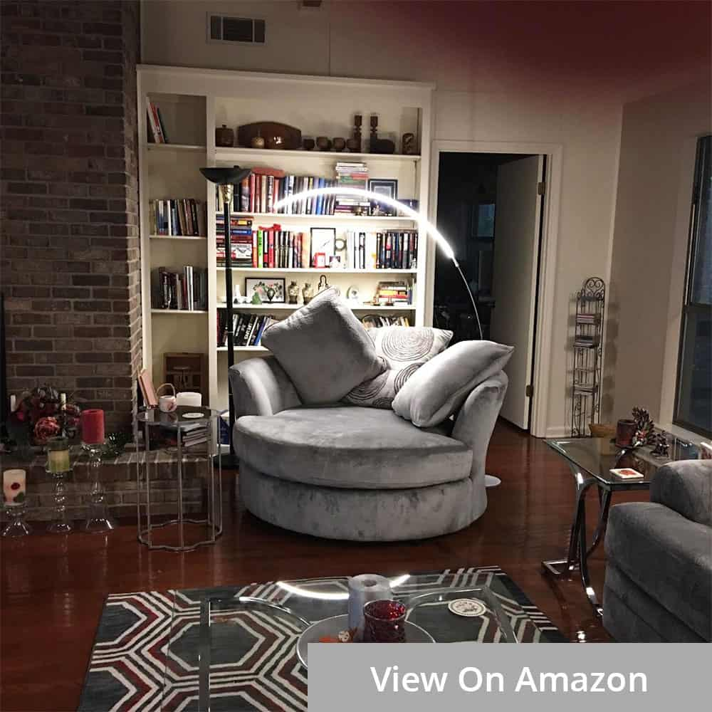 Arc Floor Lamp Living Room Corner