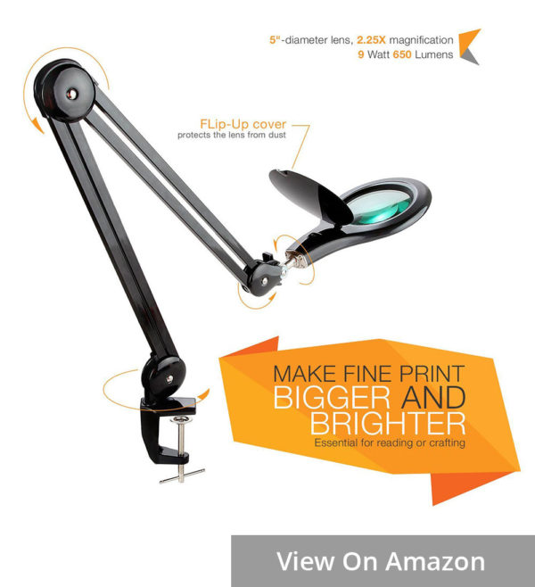 brightech lightview magnifying task lamp