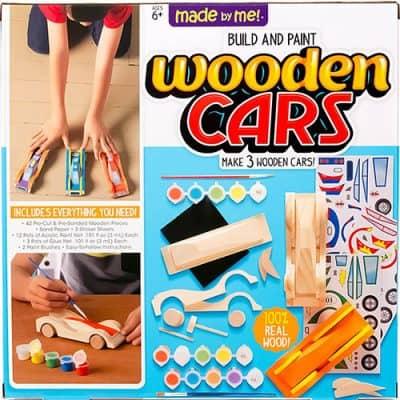 Wooden car set