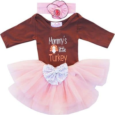 Young lady first Thanksgiving dress