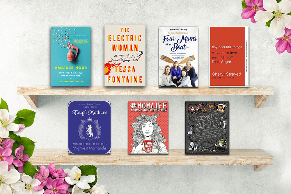 Mother's Day bookshelf from Hooked to Books
