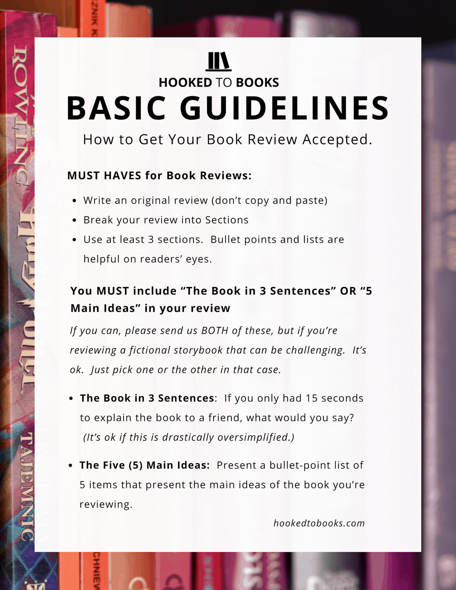 Basic Book Review Guidelines   Hooked to Books