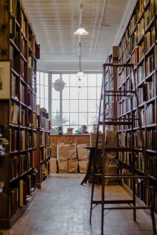 Picture corridor full of books