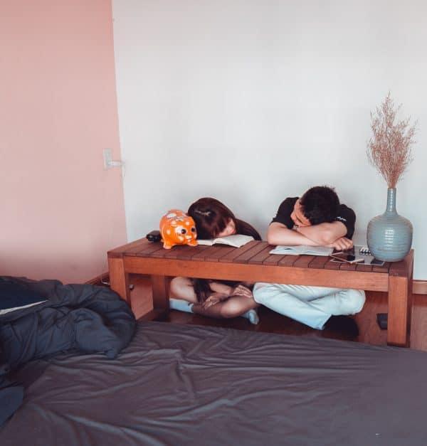 Sleeping on books