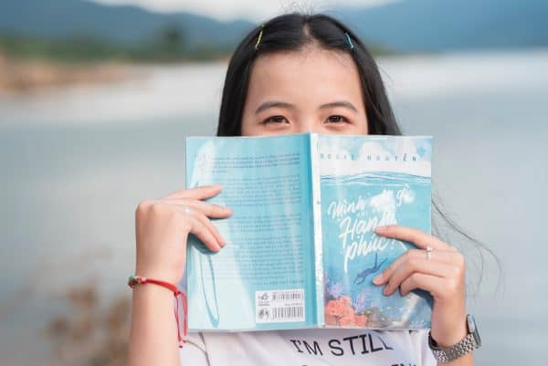 book and girl