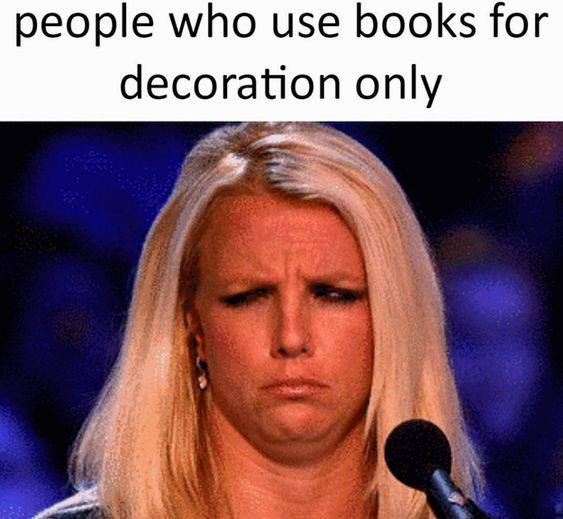 Books for decoration only
