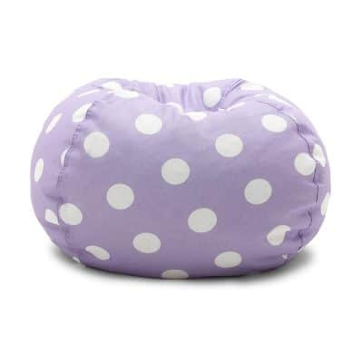 Lavender Polka Dot Classic Bean Bag Chair