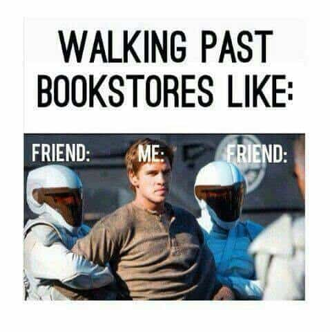 Walking past bookstores like