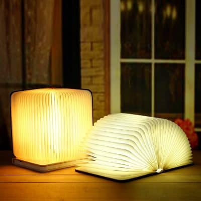 lamp shaped like a book