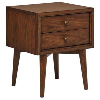 Rivet Jonathan Mid-Century Modern Wood Bedside Nightstand