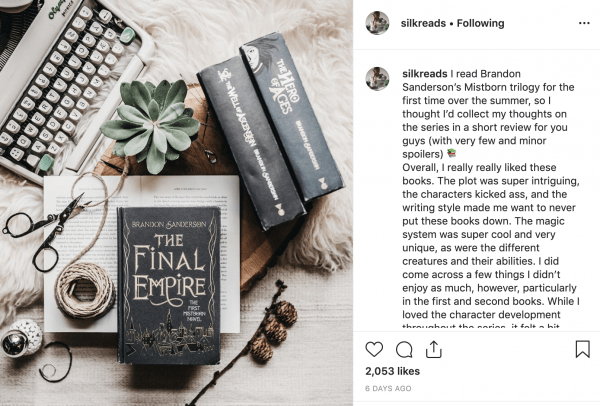silk reads bookstagram