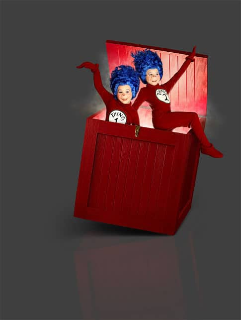 dr. seuss characters - thing 1 and thing 2