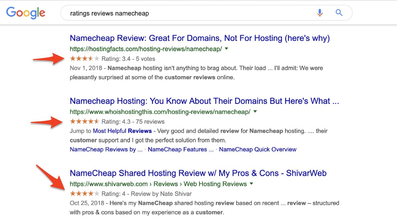 NameCheap Reviews