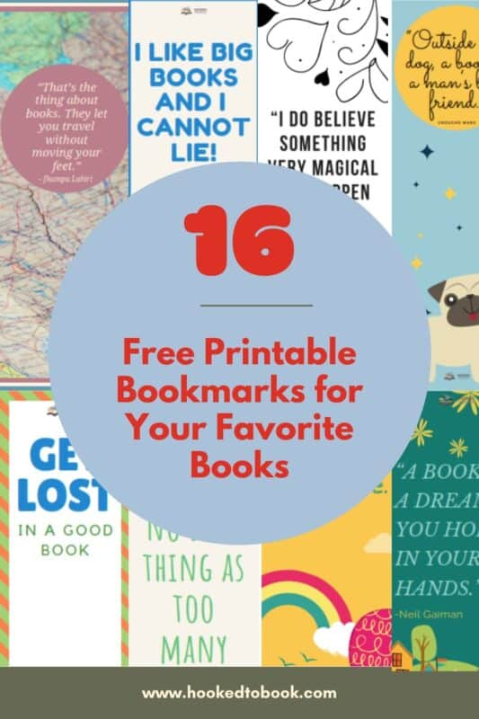 16 Free Printable Bookmarks for Your Favorite Books
